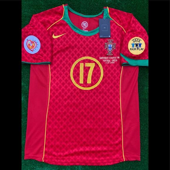 6dd7f945d40 2004 Nike Portugal soccer jersey Ronaldo Euro 2004